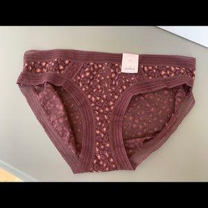 NWT Auden Lace Bikini Panties L